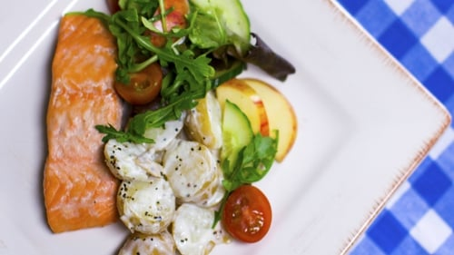 Get your daily fix of protein and fiber with this number. Operation Transformation: Salmon & potato salad