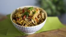 Pasta with olive oil, garlic and chilli is simple, easy and absolutely delicious. Watch the video below and get cooking!