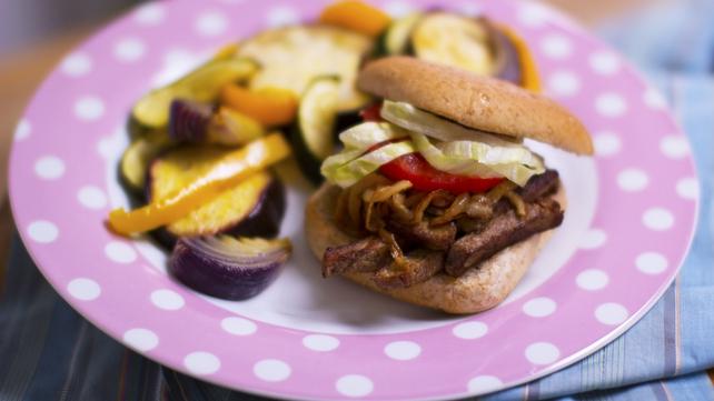 Op Trans: Steak Sandwich & Summer Vegetables
