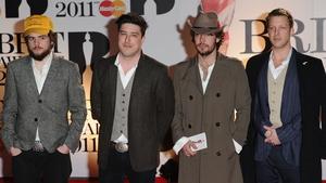 Ted Dwane, Ben Lovett, Marcus Mumford and Winston Marshall of Mumford and Sons