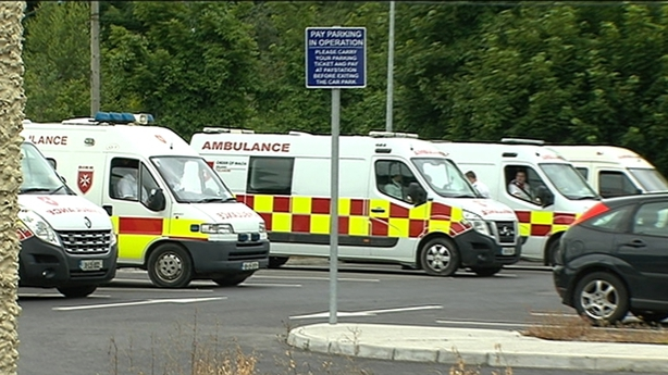 Ambulances wait outside St Vincent's Care Centre in Athlone