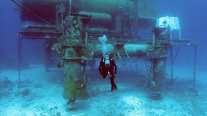 The Aquarius Undersea Reef Base is 6km off the coast of Florida