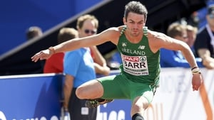 Thomas Barr broke his own university indoor 400m hurdle record