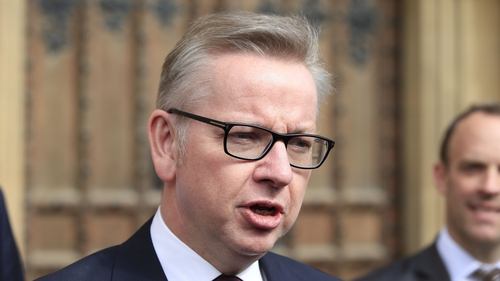 Michael Gove received 46 votes, eliminating him from the contest