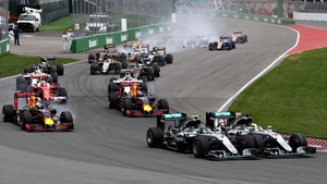 Nico Rosberg and Lewis Hamilton get close in Canada