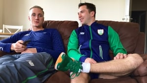 Shane Ryan and Ollie Dingley at home in Abbotstown, July 2016