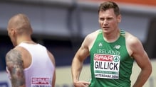 David Gillick finished seventh in his heat of the 400m in Amsterdam