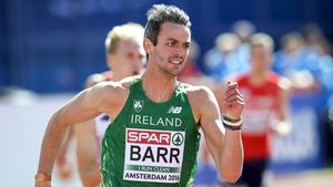Barr anchored the Irish team as they qualified for the 4x400m final