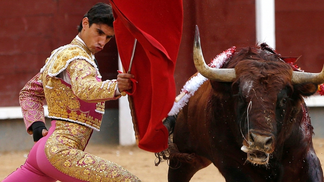 Spanish bullfighter Victor Barrio pictured at the San Isidro Bullfighting Fair in Madrid in May