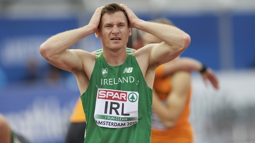 David Gillick dejected after the race