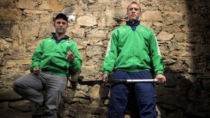 Ireland hockey coach Craig Fulton (L) and team captain David Harte