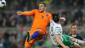 Vincent Janssen played for Holland against Ireland in the 1-1 draw at the Aviva in May