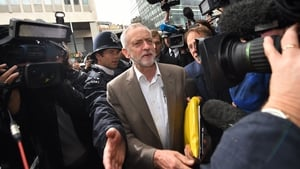 Jeremy Corbyn arrives at Labour HQ to meet the party's National Executive Committee