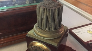 A section of the cable on display at the National Maritime Museum in Dún Laoghaire