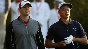 Rory McIlroy (L) with Rickie Fowler