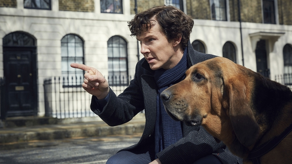 Benedict Cumberbatch and co-star in the first publicity shot for Sherlock season four