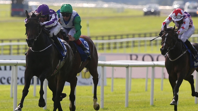 Seamie Heffernan on Seventh Heaven pull clear to win the Classic