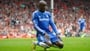 Demba Ba suffers horrific leg break