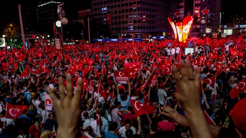 People took to the streets of Turkey after the failed coup attempt