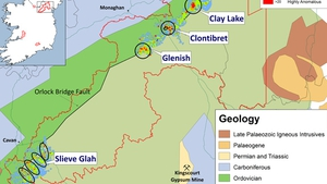 The Glenish gold target is a large, 147 hectares, gold-in-soil anomaly