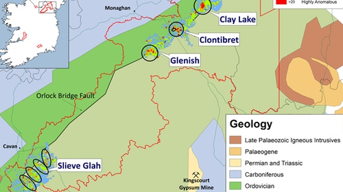 Conroy Gold and Natural Resources has identified a new gold zone on Slieve Glah