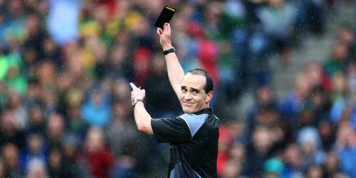 Black cards may be making their way to hurling