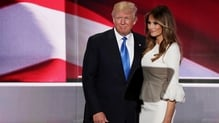 Donald Trump broke with tradition by appearing at the convention before his nomination as he introuduced his wife Melania