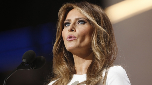 Melania Trump spoke at the Republican National Convention on Monday