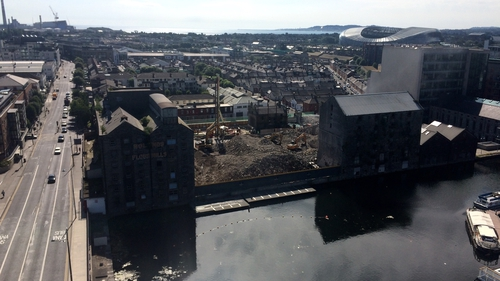 The demolition of the large 1950s concrete silos at the site - which has been renamed Boland's Quay - took eight months
