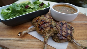 Lamb Cutlets with Chimichurri Sauce