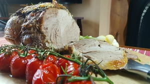 Liam Boland's Roast Lamb with Tapenade and Spring Onion
