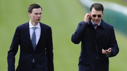 Joseph O'Brien (L) and father Aidan will go head to head tomorrow