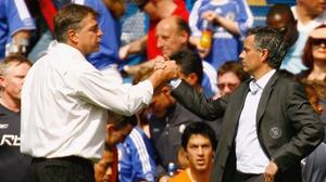 Sam Allardyce (L) has received the backing of Manchester United boss Jose Mourinho