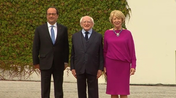 President Higgins meets President Hollande
