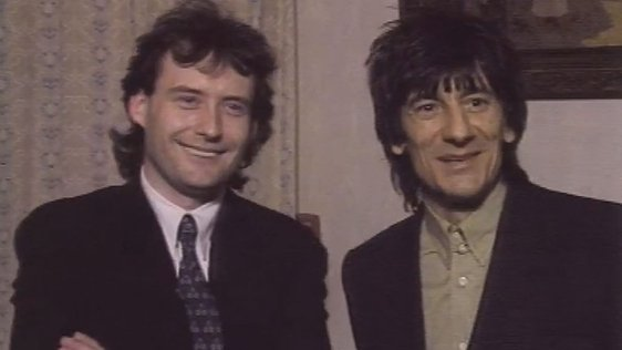 Ron Wood and Jimmy White (1990)