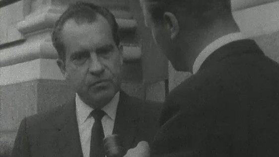 Mr Richard Nixon at Government Buildings (1966)