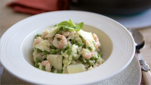 Family Friendly Pea and Prawn Risotto