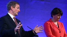 Enda Kenny and Arlene Foster during the North South Ministerial Council in Dublin Castle earlier this month