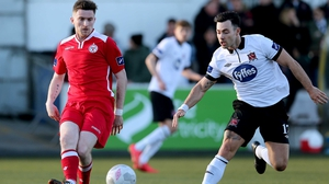 Craig Walsh in action for Shelbourne last year against Dundalk