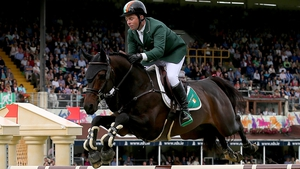 Cian O'Connor takes his horse Good Luck into the $2 Million CP International Grand Prix