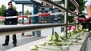 Flowers and candles for the victims near the scene of the attack in Munich