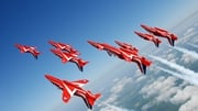 RAF Red Arrows will carry out a fly past this evening in Dublin (Pic: Irish Aviation Authority)