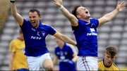 David Tubridy (L) celebrates his first-half goal