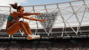 Jessica Ennis-Hill in action at the IAAF Diamond League Anniversary Games