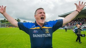 Tipperary boss Liam Kearns celebrates at the final whistle