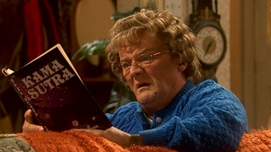 It's all in the timing... Brendan O'Carroll cranked up the mischief