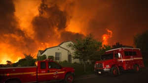 About 1,500 homes have been evacuated
