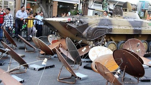 Iran destroys 100,000 illegal satellite dishes