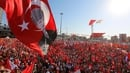 Supporters of main opposition Republic Public Party (CHP) hold Turkish flags and pictures of Ataturk, founder of modern Turkey, during a demonstration at Taksim Square