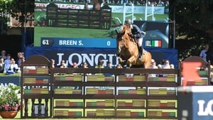 Shane Breen and Golden Hawk finished best of the Irish in the feature at the RDS